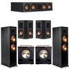 Klipsch 5.2 Ebony System - 2 RP-8000F, 1 RP-404C, 2 RP-402S, 2 PL-200II