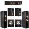 Klipsch 5.2 Ebony System - 2 RP-8000F, 1 RP-404C, 2 RP-500M, 2 PL-200II