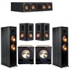 Klipsch 5.2 Ebony System - 2 RP-8000F, 1 RP-404C, 2 RP-502S, 2 PL-200II