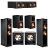 Klipsch 5.2 Ebony System - 2 RP-8000F, 1 RP-404C, 2 RP-600M, 2 PL-200II