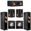 Klipsch 5.2 Ebony System - 2 RP-8000F, 1 RP-500C, 2 RP-402S, 2 PL-200II