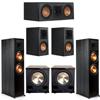 Klipsch 5.2 Ebony System - 2 RP-8000F, 1 RP-500C, 2 RP-500M, 2 PL-200II