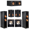 Klipsch 5.2 Ebony System - 2 RP-8000F, 1 RP-500C, 2 RP-502S, 2 PL-200II