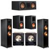 Klipsch 5.2 Ebony System - 2 RP-8000F, 1 RP-500C, 2 RP-600M, 2 PL-200II