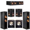Klipsch 5.2 Ebony System - 2 RP-8000F, 1 RP-504C, 2 RP-402S, 2 PL-200II