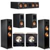 Klipsch 5.2 Ebony System - 2 RP-8000F, 1 RP-504C, 2 RP-500M, 2 PL-200II