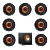 Klipsch 7.1 In-Wall System with 7 CDT-3800-C II In-Ceiling Speakers, 1 Klipsch R-110SW Subwoofer