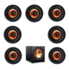 Klipsch 7.1 In-Wall System with 7 CDT-3800-C II In-Ceiling Speakers, 1 Klipsch R-115SW Subwoofer