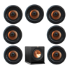 Klipsch 7.1 In-Wall System with 7 CDT-5800-C II In-Ceiling Speakers, 1 Klipsch R-110SW Subwoofer