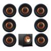 Klipsch 7.1 In-Wall System with 7 CDT-5800-C II In-Ceiling Speakers, 1 Klipsch R-112SW Subwoofer