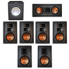 Klipsch 7.1 In-Wall System with 2 R-5800-W II In-Wall Speakers, 1 Klipsch R-5502-W II In-Wall Speaker, 4 Klipsch R-5650-S II In-Wall Speakers, 1 Premier Acoustic PA-150 Subwoofer