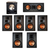 Klipsch 7.1 In-Wall System with 2 R-5800-W II In-Wall Speakers, 1 Klipsch R-5502-W II In-Wall Speaker, 4 Klipsch R-5650-S II In-Wall Speakers, 1 BIC/Acoustech Platinum Series PL-200 II Subwoofer
