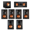 Klipsch 7.1 In-Wall System with 2 R-5800-W II In-Wall Speakers, 1 Klipsch R-5502-W II In-Wall Speaker, 4 Klipsch R-5650-S II In-Wall Speakers, 1 Klipsch R-110SW Subwoofer