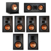 Klipsch 7.1 In-Wall System with 2 R-5800-W II In-Wall Speakers, 1 Klipsch R-5502-W II In-Wall Speaker, 4 Klipsch R-5650-S II In-Wall Speakers, 1 Klipsch R-112SW Subwoofer