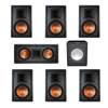Klipsch 7.1 In-Wall System with 2 R-5800-W II In-Wall Speakers, 1 Klipsch R-5502-W II In-Wall Speaker, 4 R-5800-W II In-Wall Speakers, 1 Premier Acoustic PA-150 Subwoofer