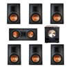Klipsch 7.1 In-Wall System with 2 R-5800-W II In-Wall Speakers, 1 Klipsch R-5502-W II In-Wall Speaker, 4 R-5800-W II In-Wall Speakers, 1 BIC/Acoustech PL-200 II Subwoofer