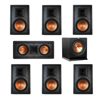 Klipsch 7.1 In-Wall System with 2 R-5800-W II In-Wall Speakers, 1 Klipsch R-5502-W II In-Wall Speaker, 4 R-5800-W II In-Wall Speakers, 1 Klipsch R-110SW Subwoofer