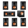 Klipsch 7.1 In-Wall System with 2 R-5800-W II In-Wall Speakers, 1 Klipsch R-5502-W II In-Wall Speaker, 4 R-5800-W II In-Wall Speakers, 1 Klipsch R-112SW Subwoofer