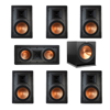 Klipsch 7.1 In-Wall System with 2 R-5800-W II In-Wall Speakers, 1 Klipsch R-5502-W II In-Wall Speaker, 4 R-5800-W II In-Wall Speakers, 1 Klipsch R-115SW Subwoofer