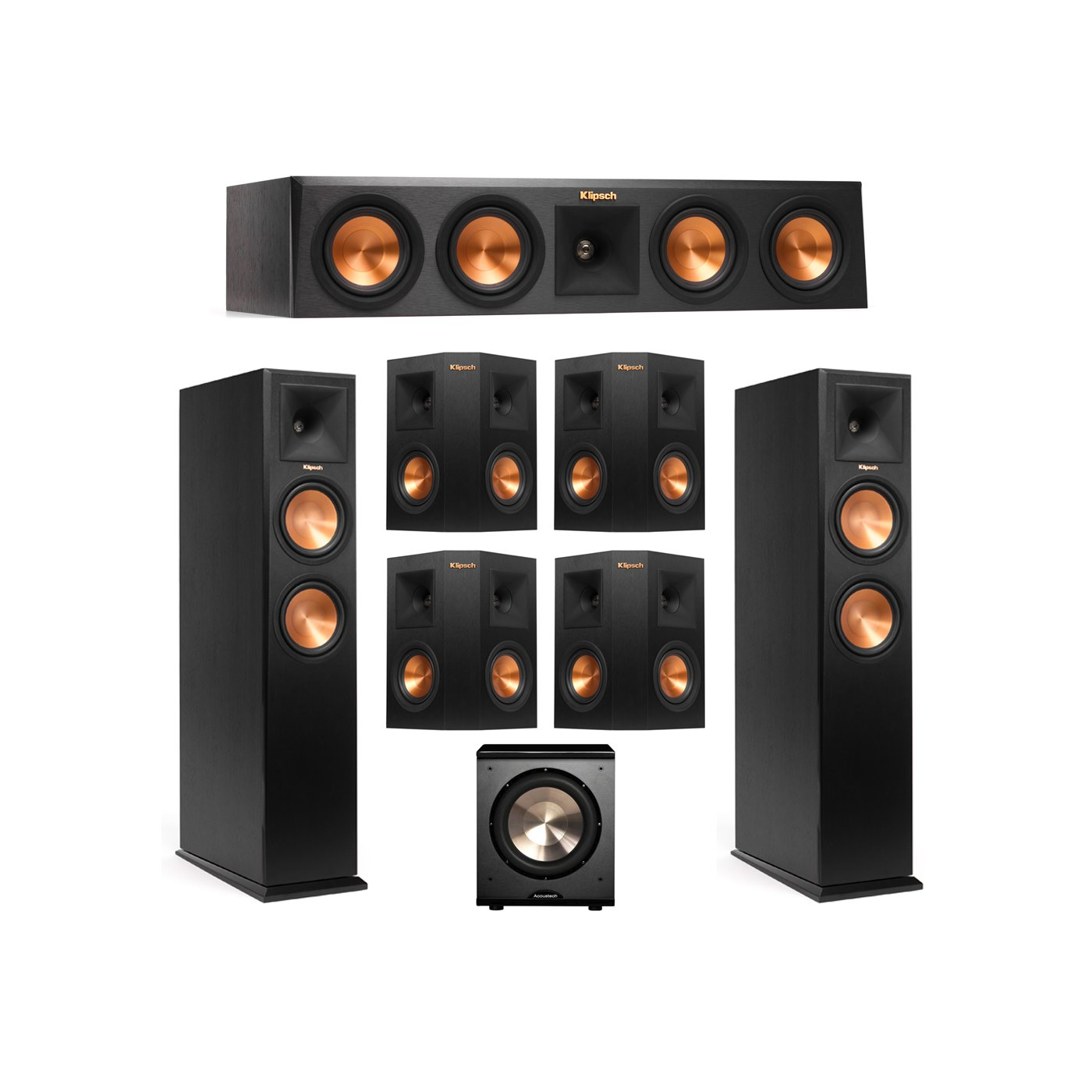 klipsch home theater speakers. image is loading klipsch-7-1-system-with-2-rp-260f- klipsch home theater speakers