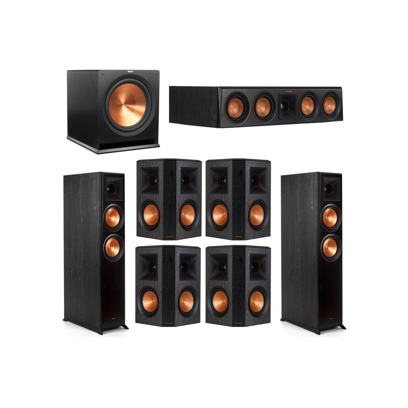 Klipsch 7.1 System with 2 RP-6000F Floorstanding Speakers, 1 Klipsch RP-404C Center Speaker, 4 Klipsch RP-502S Surround Speakers, 1 Klipsch R-115SW Subwoofer