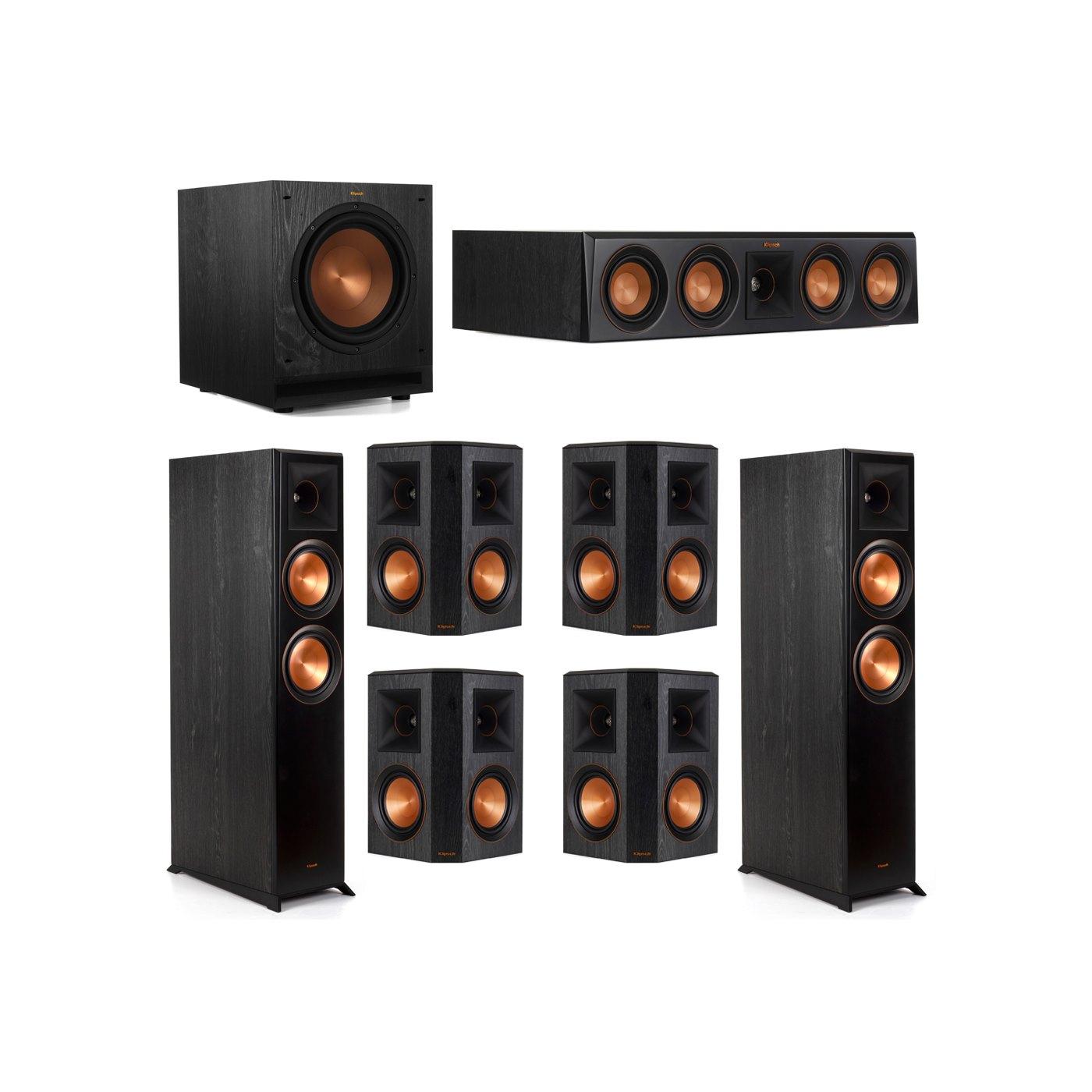 Klipsch 7.1 System with 2 RP-6000F Floorstanding Speakers, 1 Klipsch RP-404C Center Speaker, 4 Klipsch RP-502S Surround Speakers, 1 Klipsch SPL-100 Subwoofer