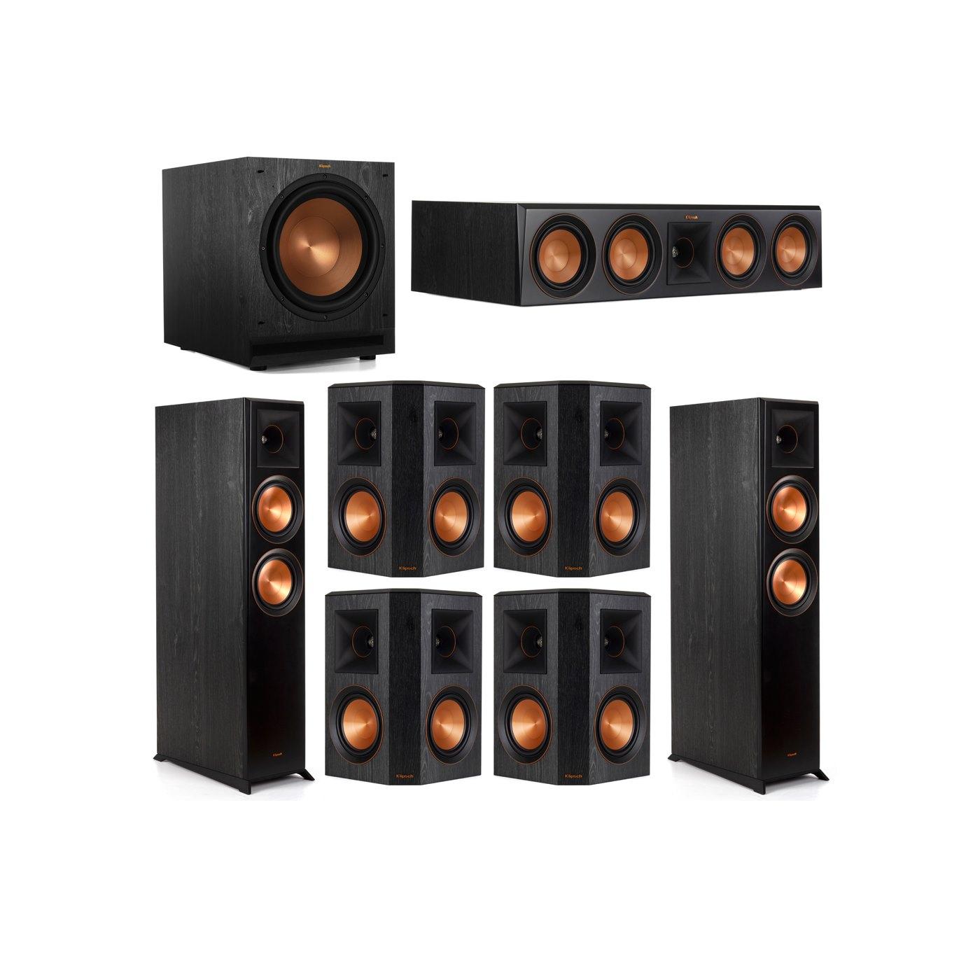 Klipsch 7.1 System with 2 RP-6000F Floorstanding Speakers, 1 Klipsch RP-504C Center Speaker, 4 Klipsch RP-502S Surround Speakers, 1 Klipsch SPL-120 Subwoofer
