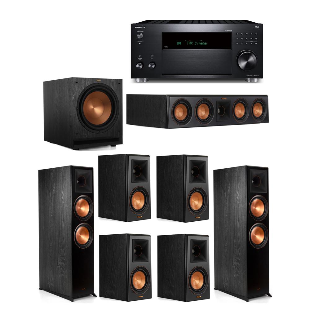 Klipsch 7.1 System with 2 RP-8000F, 1 RP-404C, 4 RP-500M, 1 SPL-120, 1 Onkyo TX-RZ830 Receiver