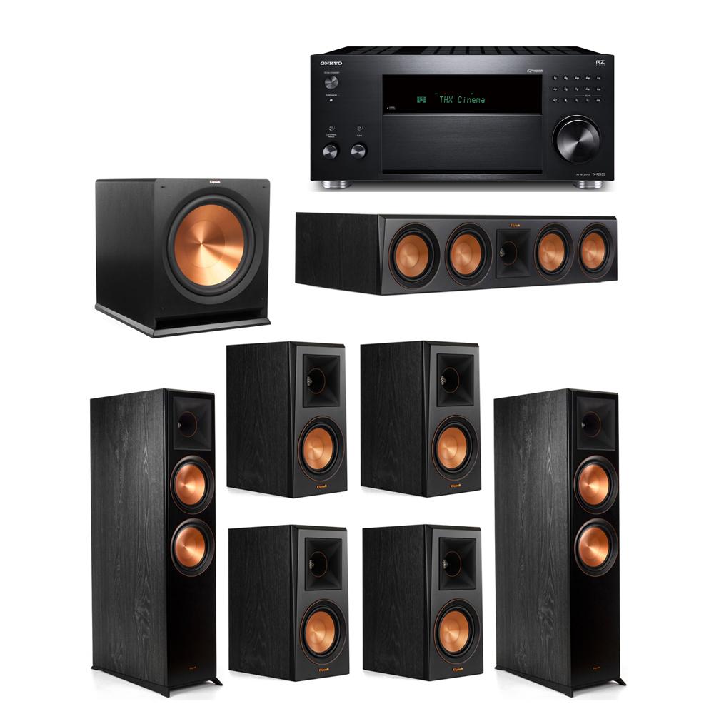 Klipsch 7.1 System with 2 RP-8000F,  1 RP-504C, 4 RP-500M, 1 R-115SW,  1 Onkyo TX-RZ830 Receiver