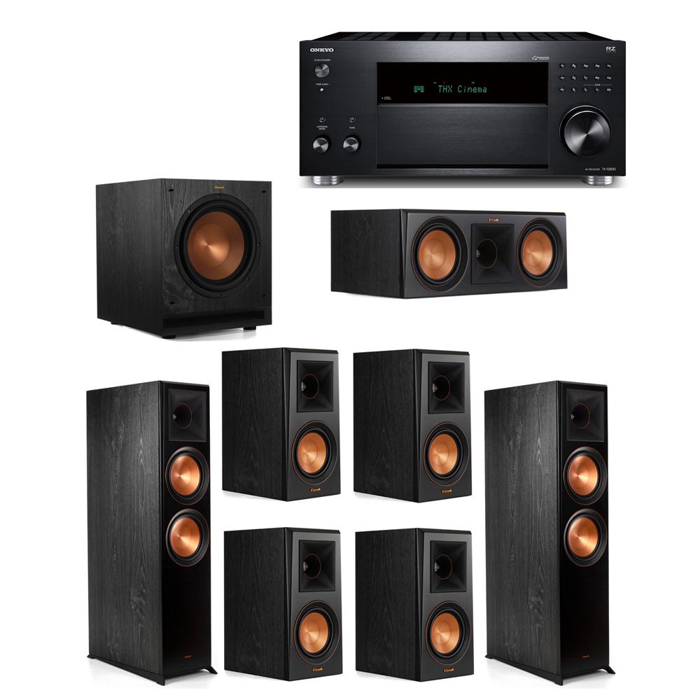Klipsch 7.1 System with 2 RP-8000F, 1 RP-600C, 4 RP-500M, 1 SPL-100, 1 Onkyo TX-RZ830 Receiver
