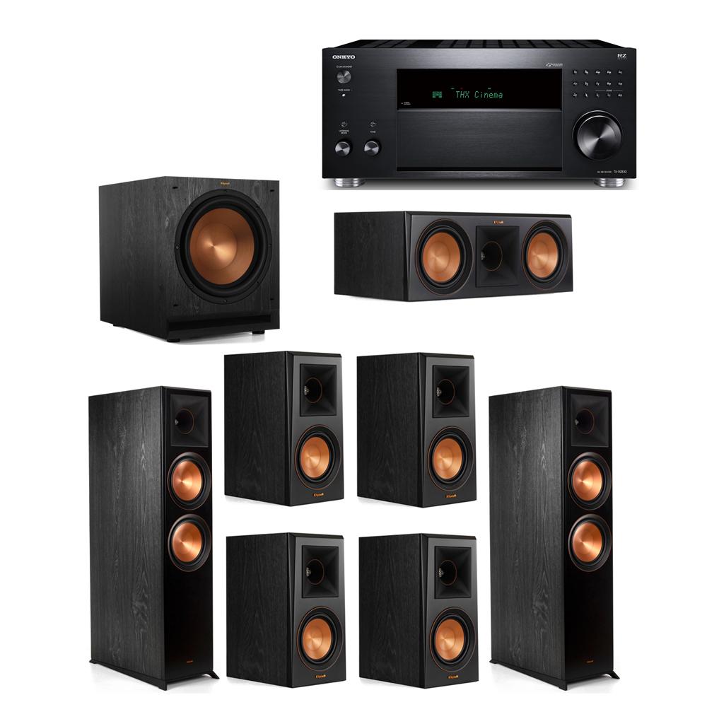 Klipsch 7.1 System with 2 RP-8000F, 1 RP-600C, 4 RP-500M, 1 SPL-120, 1 Onkyo TX-RZ830 Receiver