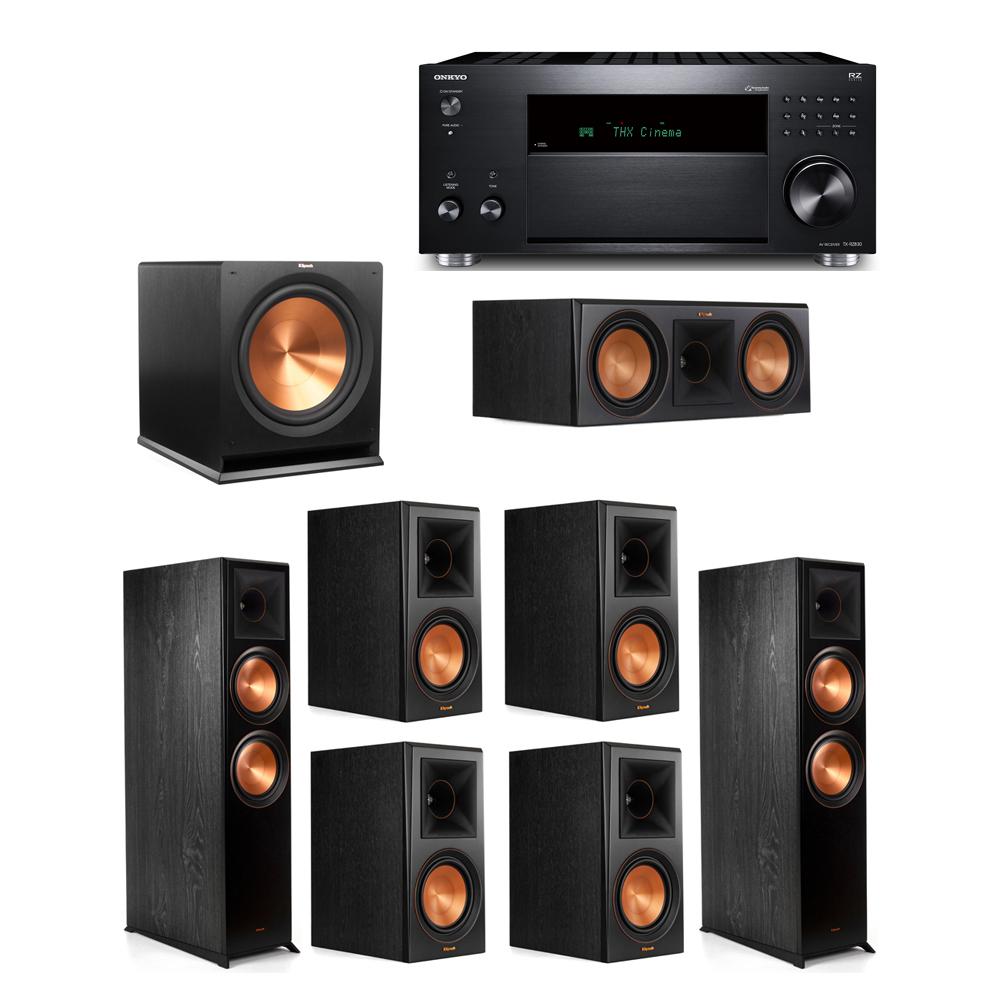 Klipsch 7.1 System with 2 RP-8000F, 1 RP-600C, 4 RP-600M, 1 R-115SW,  1 Onkyo TX-RZ830 Receiver