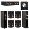 Klipsch 7.1 Ebony System - 2 RP-5000F, 1 RP-404C, 4 RP-402S, 1 PL-200II