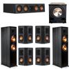 Klipsch 7.1 Ebony System - 2 RP-8000F, 1 RP-404C, 4 RP-402S, 1 PL-200II