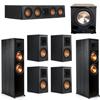 Klipsch 7.1 Ebony System - 2 RP-8000F, 1 RP-404C, 4 RP-500M, 1 PL-200II