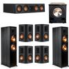Klipsch 7.1 Ebony System - 2 RP-8000F, 1 RP-404C, 4 RP-502S, 1 PL-200II