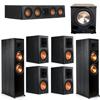 Klipsch 7.1 Ebony System - 2 RP-8000F, 1 RP-404C, 4 RP-600M, 1 PL-200II