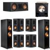 Klipsch 7.1 Ebony System - 2 RP-8000F, 1 RP-500C, 4 RP-402S, 1 PL-200II