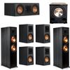 Klipsch 7.1 Ebony System - 2 RP-8000F, 1 RP-500C, 4 RP-500M, 1 PL-200II