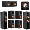 Klipsch 7.1 Ebony System - 2 RP-8000F, 1 RP-500C, 4 RP-600M, 1 PL-200II