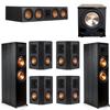 Klipsch 7.1 Ebony System - 2 RP-8000F, 1 RP-504C, 4 RP-402S, 1 PL-200II