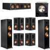 Klipsch 7.1 Ebony System - 2 RP-8000F, 1 RP-504C, 4 RP-502S, 1 PL-200II