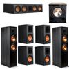 Klipsch 7.1 Ebony System - 2 RP-8000F, 1 RP-504C, 4 RP-600M, 1 PL-200II
