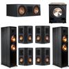 Klipsch 7.1 Ebony System - 2 RP-8000F, 1 RP-600C, 4 RP-402S, 1 PL-200II