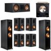 Klipsch 7.1 Ebony System - 2 RP-8000F, 1 RP-600C, 4 RP-502S, 1 PL-200II