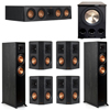 Klipsch 7.1 Ebony System - 2 RP-5000F, 1 RP-404C, 4 RP-402S, 1 PL-300