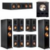 Klipsch 7.1 Ebony System - 2 RP-8000F, 1 RP-404C, 4 RP-402S, 1 PL-300