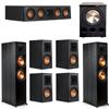 Klipsch 7.1 Ebony System - 2 RP-8000F, 1 RP-404C, 4 RP-500M, 1 PL-300