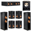 Klipsch 7.1 Ebony System - 2 RP-8000F, 1 RP-404C, 4 RP-502S, 1 PL-300
