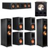 Klipsch 7.1 Ebony System - 2 RP-8000F, 1 RP-404C, 4 RP-600M, 1 PL-300